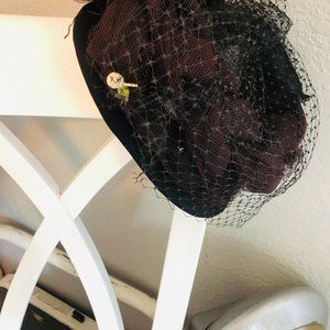 Vintage 1930's Netted Hat with Tulle